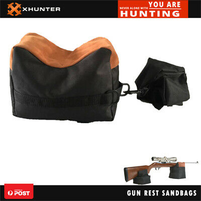 Xhunter Unfilled Front & Rear Shooter's Gun Rest Sand Bags Steady Shooting Bench