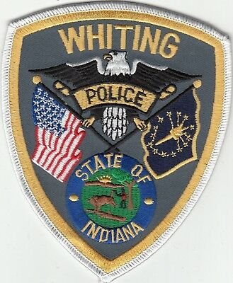 Whiting Police Shoulder Patch Indiana In