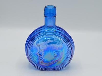 Wheaton Blue Carnival Glass Bottle - President John F. Kennedy - First Edition