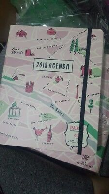 "New Kate Spade 17Months Large Agenda ""City Of Light"" 2018"