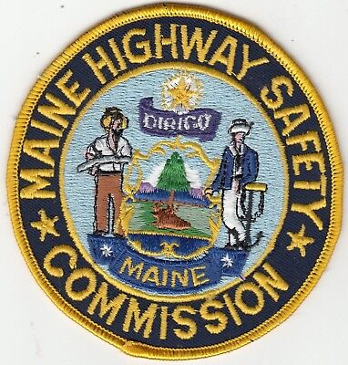 Maine Highway Safety Commission Police Patch Me (Older)