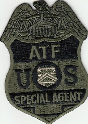 Atf Special Agent Subdued Novelty Patch Dc
