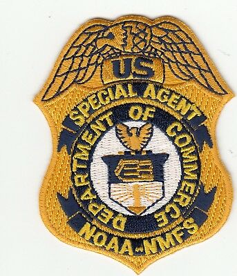 Special Agent Department Of Commerce Noaa-Nmfs Hat Vest Patch Dc Novelty