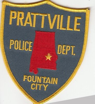 "Prattville Police Department Shoulder Patch Alabama Al ""fountain City"""