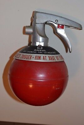Vintage FIRE EXTINGUISHER ANSUL  Round Red Dry Chemical Fire Extinguish  M 2 1/2