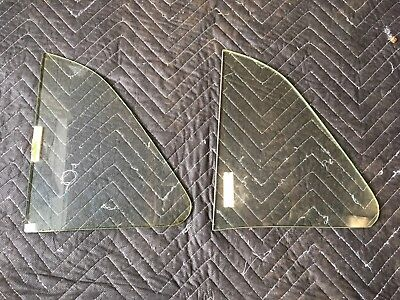 NOS 1949 - 1952 Chevrolet Chevy Front Vent Window Glass Pair 49 50 51 52