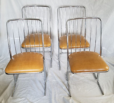70's Mid Century Modern DAYSTROM Cantilevered DINING CHAIRS | Set of 4, STELLAR!