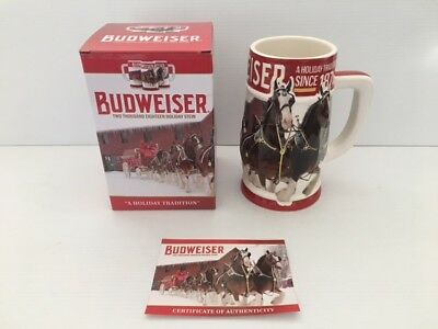 "2018 Budweiser Clydesdales Holiday Stein        ""a Holiday Tradition Since 1876"""