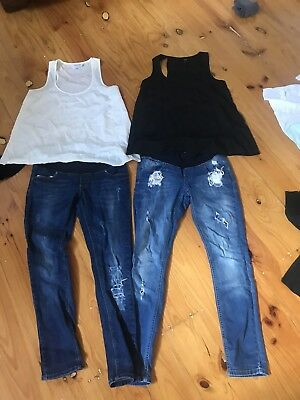 Asos Maternity Jeans Top Bundle Bulk Lot 8 10
