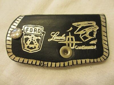 Vintage FORD, LINCOLN, MERCURY Leather Key holder auto advertising