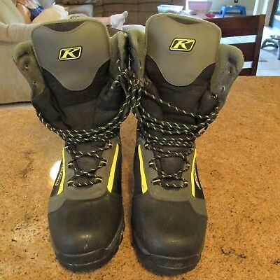 Klim GTX Men's Boots Sz 12 US Thinsulate Ultra Insulation Snowmobile Boots Nice!