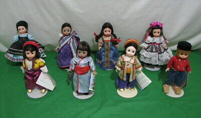 "Lot Of 8 Madame Alexander International 8"" Dolls Japan Kukla Anatolia Loas Etc"