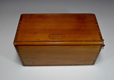 Antique Wooden Sewing Case (1889), with vintage thread spools