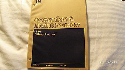 OEM CATERPILLAR CAT 936 Front End Wheel Loader Operation