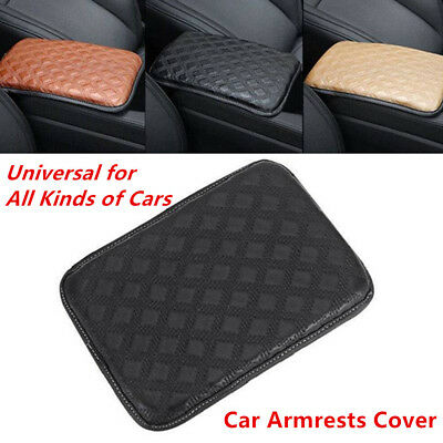Universal Car SUV Armrest Pad Cover Center Console PU Leather Cushion Practical