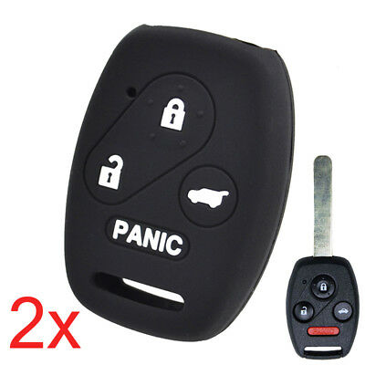 For Honda Civic CR-V Pilot Accord Insight 2Pcs Silicone Key Cover Remote Case