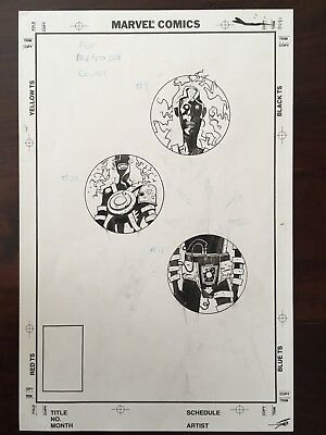 Mike Mignola Eddy Current ORIGINAL ART from THREE Covers