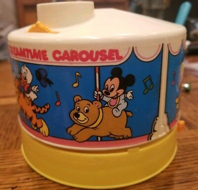 VTG Disney Dreamtime Carousel Light Sound Moving Projector Mickey Mouse 1988