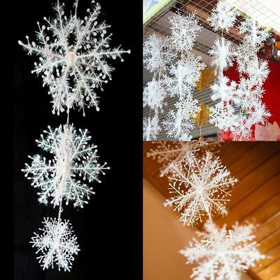 3D Snowflake Strings CHRISTMAS PARTY SHIMMERING HANGING CRAFT Activity Supplies