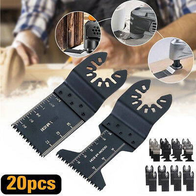 20pcs Oscillating Multi Tool Saw Blade Cutter For Fein Multimaster