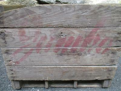 Vintage Rare Wood  Wooden 6 Slots For 60 Oz.jumbo Soda Bottles Box Crate  Nice