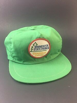 Vintage Minnesota State Parks Someplace Special Snapback Hat Cap Made In USA A++