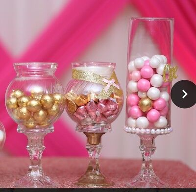 Glass Apothecary Candy Jar Buffet Table Centerpiece