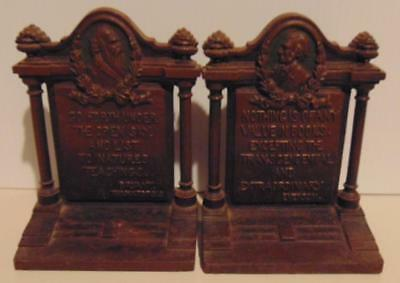 Antique Bronze B & H (Bradley & Hubbard) Bookends, Emerson & Bryant Quotes