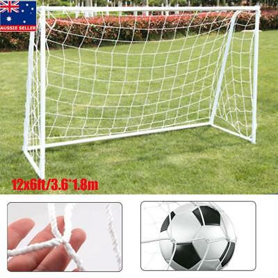 d2ae80c4933 12X6FT Football Soccer Goal Post Nets For Sports Training Match Replace AU  Ship