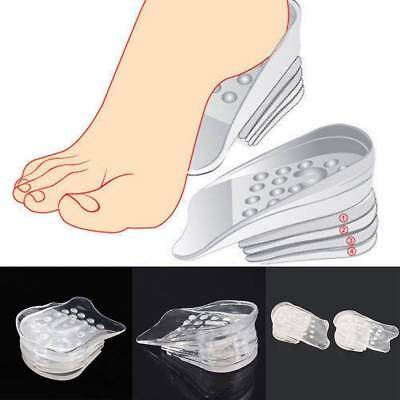 5 Layer Silicone Heel Insert Increase Taller Height Lift Shoes Insole Cushions
