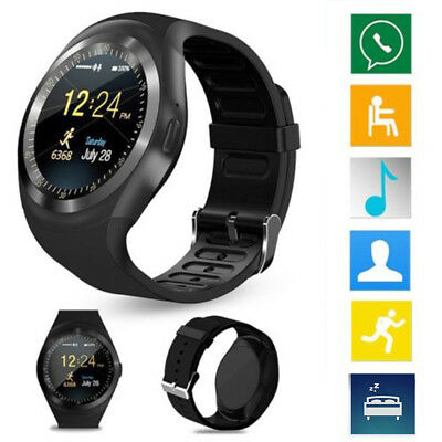 "Y1 Smart Watch 1.2"" Screen Support Tracker For iPhone IOS Samsung Sony Android"