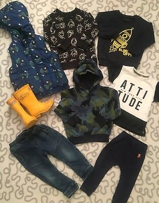 Baby Boys 18-24 Months Winter Clothes Bundle Next River Island Long Sleeve