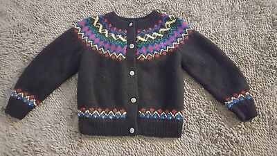 One Of A Kind by Shirley Duffy*Vintage Wool Sweater*Girl's Size 8/10*EVC