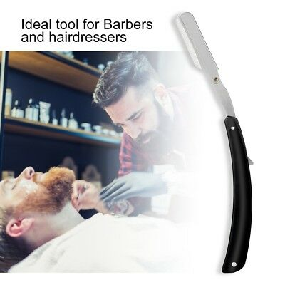 Barber Straight Blade Razor Stainless Steel Salon Folding Shaving Hair Cutting