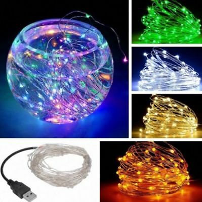 1-10M USB LED Copper Wire String Fairy Light Strip Lamp Xmas Party Waterproof Y