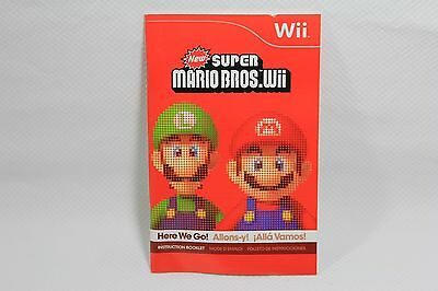 New Super Mario Bros Wii Instruction Manual/Booklet (2009)
