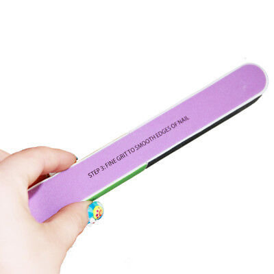 Function Print Nail File Sanding Buffer Finger Polishing Manicure Tool fast ship