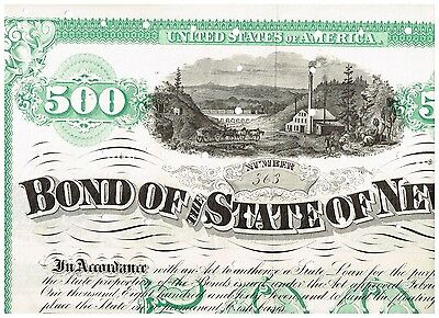 State of Nevada, 1872, 500$ bond, cancelled