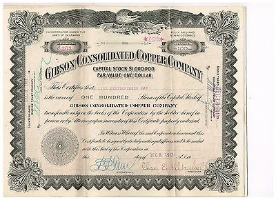 Gibson Consolidated Copper Co., 1910er