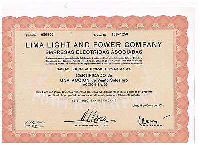 Lima Light and Power Co., 1960