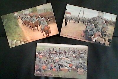 Vintage Postcards WW1 of French Infantry at Verdun
