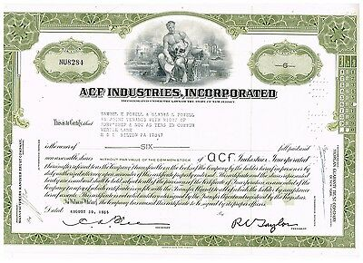 ACF Industries, Inc., 1960s, olive