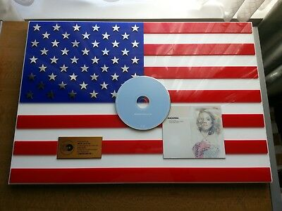 Madonna - American pie (ORIG GERMAN CD AWARD - 250,000 SALES - USA FLAG MARBLE)