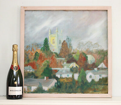 FRANK ANSTIS, Good c20th Oil on Canvas, Kenwyn Parish Church, Truro in Cornwall