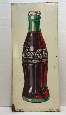 Original Vintage 1948 Coca-Cola Bottle Sign