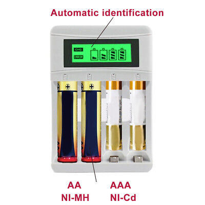 For AA/AAA NiCd NiMh Rechargeable Charger USB Four Slot Smart Electrical Tools N