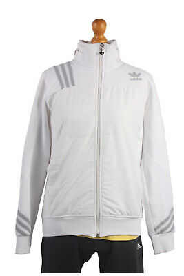 Adidas Vintage Retro Shell Suit Tracksuit Top Jacket White Chest 40'' SW1341