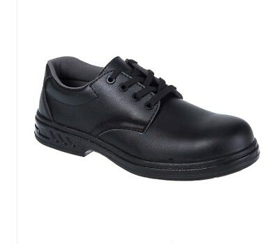 Portwest Laced Food Safety Chef's Work Shoes Kitchen Catering FW80 UK9