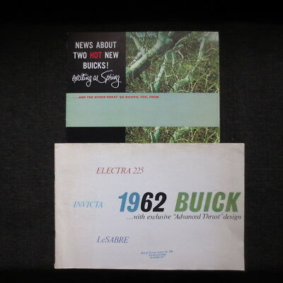 1962 Buick brochures two Canadian and American markets