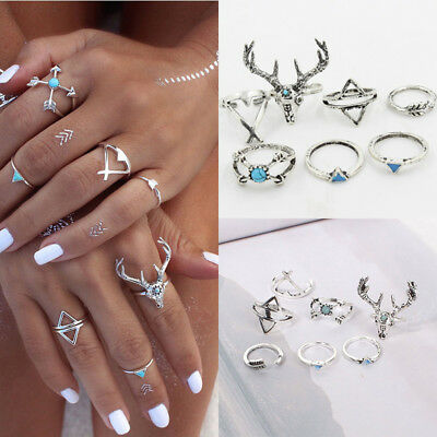 3BAE Alloy Body Jewelry Ring Women Accessories Silver Jewelry Punk Bohemian
